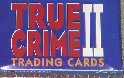 true crime  -  series 2  -  sealed full box  -  36 unopened trading card packs