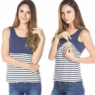 Maternity Clothes Pregnant Women Nursing Top T-shirt Tank Breastfeeding Clothes