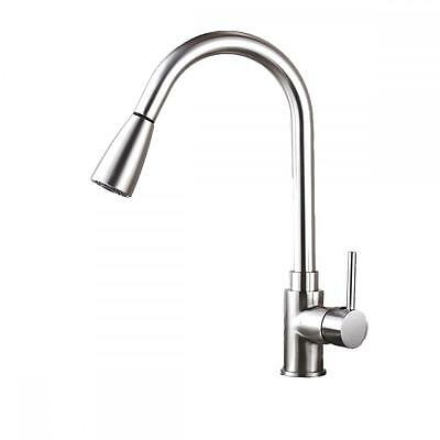 """16"""" Kitchen Sink Faucet Brushed Nickel Pull-Out Spray Swivel Spout Dispenser 16"""