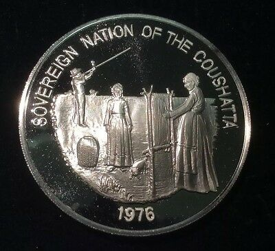 1976 Sovereign Nation of the Coushatta .999 Fine Silver 0.8± oz