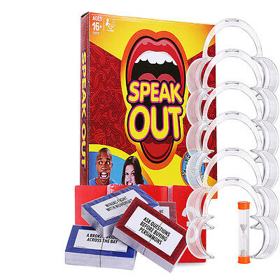 NEW Speak Out Funny Mouthguard Challenge Party Board Game Xmas Gift Toy AU