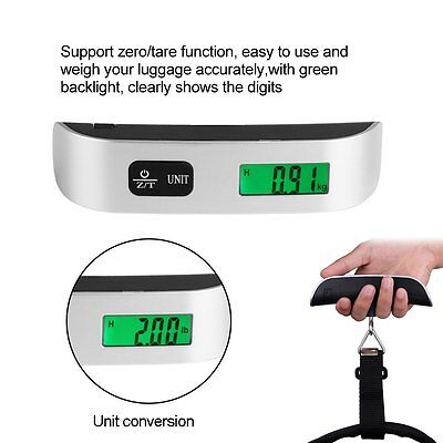Portable Home 50kg LCD Handheld Digital Luggage Scale Balance Weighing Suitcase