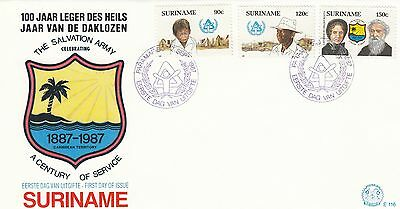 (02356) Suriname FDC Salvation Army 2 Septembre 1987