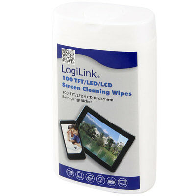 LogiLink RP0010 TFT LCD Plasma Monitor Reinigungstücher Screen Cleaning Wipes
