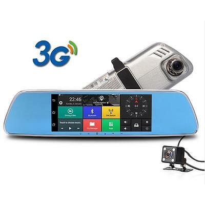 Android 5.0 Car DVR Camera Rearview Mirror DVRs with GPS Bluetooth WIFI