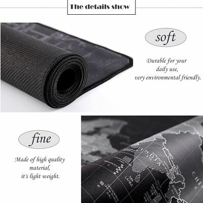 900*400*2MM World Map Anti-Slip Computer Rubber Game Mouse Pad Mat Large XL MG