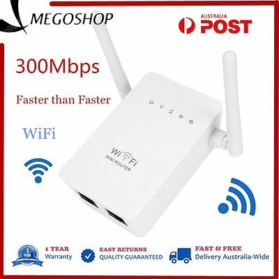 300Mbps Wireless Repeater Network Router WiFi Range Extender Booster LOT MG