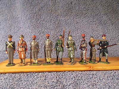 Britains Misc. 8 Pieces and 1 Mignot (ALL 9 Pieces in Lot)