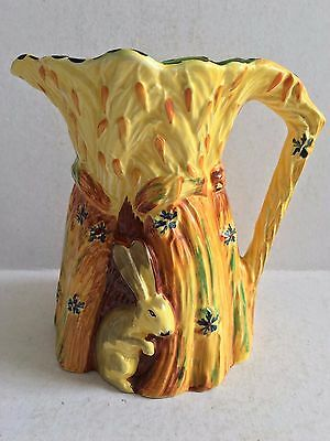 Art Deco Burgess & Leigh Burleigh Ware 1930s Decorative Rabbit Jug #5076B