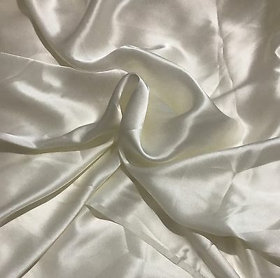 By the Yard,12 MOMME,100% PURE SILK LUXURY SATIN Dress Making Fabric. UK STOCK