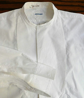 1920s Marcella tunic shirt size 15 Austin Reed mens vintage Collarless neckband