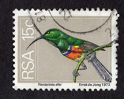 1974 South Africa 15c Greater Double collared sunbird SG358 FINE USED R29065