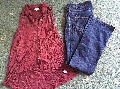 Ladies Size 8 Bundle Top Jeans Bootcut New look Yesyes Jeans