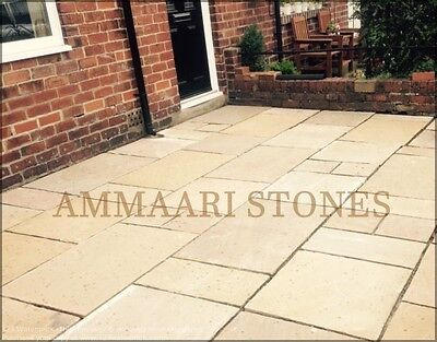 Natural Handmade Sandstone Paving Raj Green Patio Pack | 19 Sqm