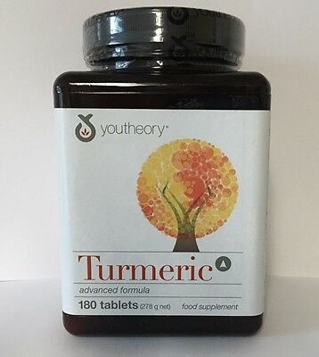 Youtheory Turmeric Advanced Formula 180 Tablets
