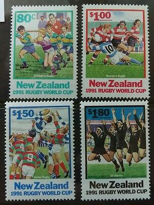 N. Zealand 1991 Rugby World Cup  set  MUH  a1