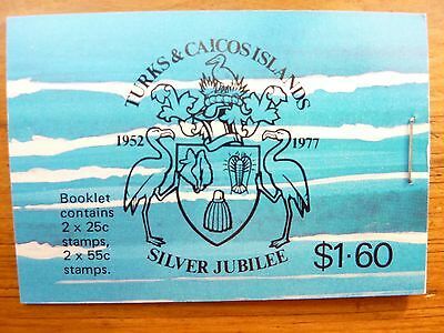 930] - TURKS & CAICOS STAMPS - BOOK- 25th. ANNIV. of SILVER WEDDING of QE 11- 78