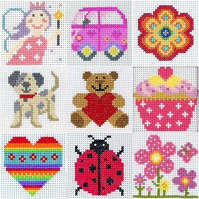 Anchor 1st Counted Cross Stitch Kit - Ideals Beginners / Kids / Children's Craft