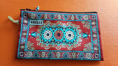 Greece woven miniature carpet fabric wallet  (a)