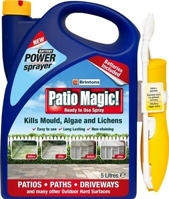 Patio Magic Power Sprayer Ready to Use Spray Driveway Cleaner - 5 Litre