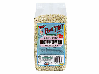 Organic Quick Cooking Rolled Oats 4/16oz Bob's Red Mill BULK