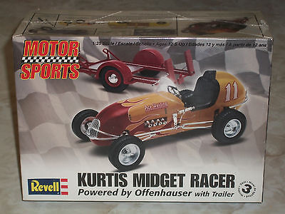 Revell 1/25 Scale Kurtis Midget Racer With Trailer - Factory Sealed