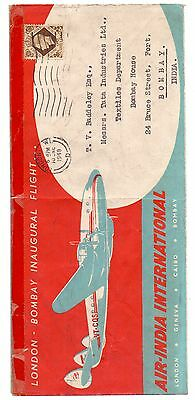 India 1948 Air India London - Bombay Return Flight Delivery Cds 14Th June, 1948
