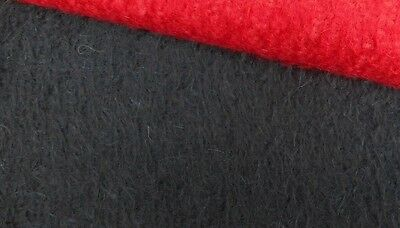 12mm SPARSE FELTED BLACK MOHAIR