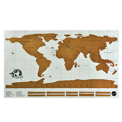 Scratch Map personalised world map poster - where you have travelled