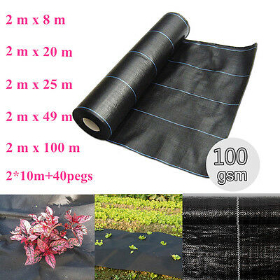 Panana 100g 2m Weed Control Fabric Ground Cover Membrane Landscape Heavy Duty