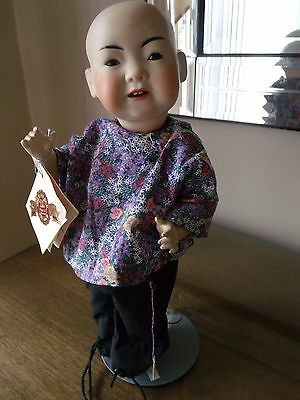 """Artie Seeley Reproduction Oriental Doll 14"""" tall"""