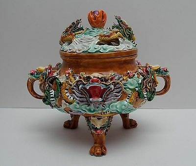 Chinese Kowloon Koro Incense Burner