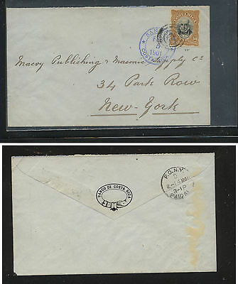 Costa  Rica  #48 on clean neat cover to US  1901 , nice cover    MS0312