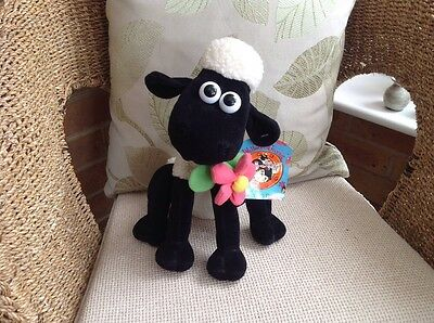 """SHAUN THE SHEEP WITH DAISY  PLUSH  SOFT TOY Approx 10"""" With Tag"""