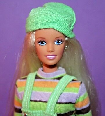 1997 TEEN SKIPPER Extreme GREEN Barbie doll in Original Fashion Outfit VERY GOOD