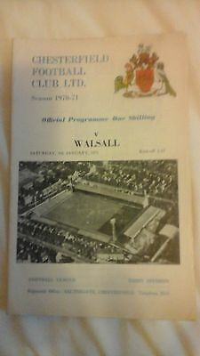 Chesterfield  v  Walsall   Division 3  1971