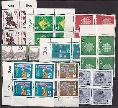 GERMANY ^^^^^1964-70  x9   MNH  BLOCKS of 4 $$@sc351geee