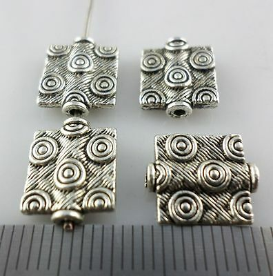 16pcs Tibetan Silver Rectangle Spacer Beads Charms Jewelry Findings 10x12mm