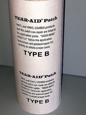 "Tear Aid  type B  6"" wide cut length packs - fabric repair for pvc/vinyl"