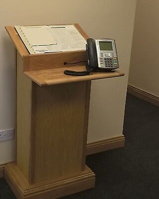 Custom Made Oak Lectern