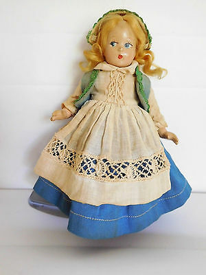 """Vintage Alexander 7"""" Tiny Betty Norwegian Norway Composition Tagged Dress"""