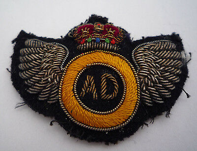 Royal Army Service Corps Genuine Air Despatch Bullion Badge