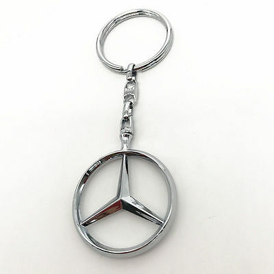 New 3D Car Logo Keyring Keychain Metal Pendant Key Holder for Mercedes-Benz