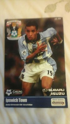 Coventry City  v  Ipswich Town   Premiership  2000