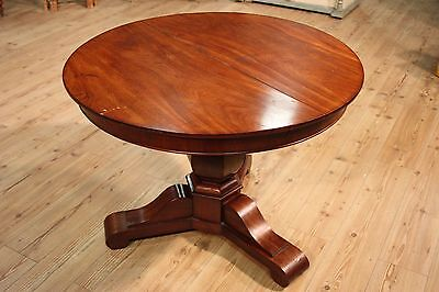 Antique round dining table furniture wood mahogany antiques 800 19th century