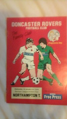 Doncaster Rovers  v  Northampton Town   Division  4   1992