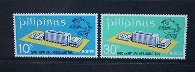 PHILIPPINES 1970 New UPU Headquarters. Set of 2. Mint Never Hinged. SG1146/1147.