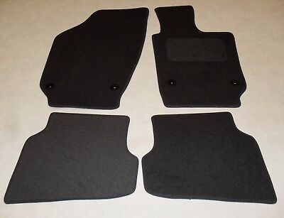 VW Polo MK6 2009-18 Fully Tailored Deluxe Car Mats in Black