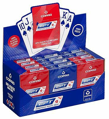 COPAG EPT EUROPEAN POKER TOUR OFFICIAL PLAYING CARDS - Jumbo Index Red and Blue