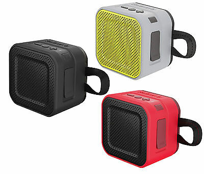 Skullcandy Barricade Mini Portable Speaker Red/Lime Grey/brown Black/Clear